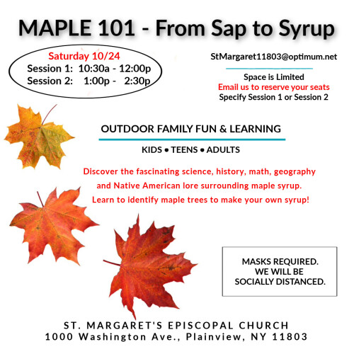 Maple 101 flyer
